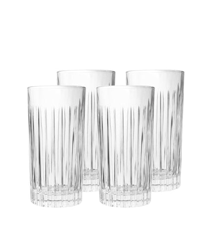 Martin Crystal Highball Cocktail Glasses, Set of 4