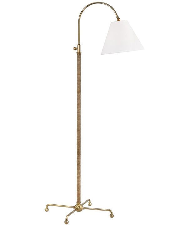 Curves No. 1 Adjustable Floor Lamp, Aged Brass