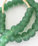 Recycled Glass Beads, Green