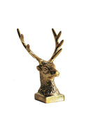 Solid Brass Deer Head Pen Holder