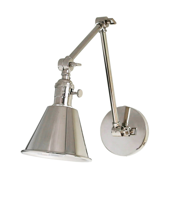 Jefferson Double Arm Wall Sconce, Polished Nickel