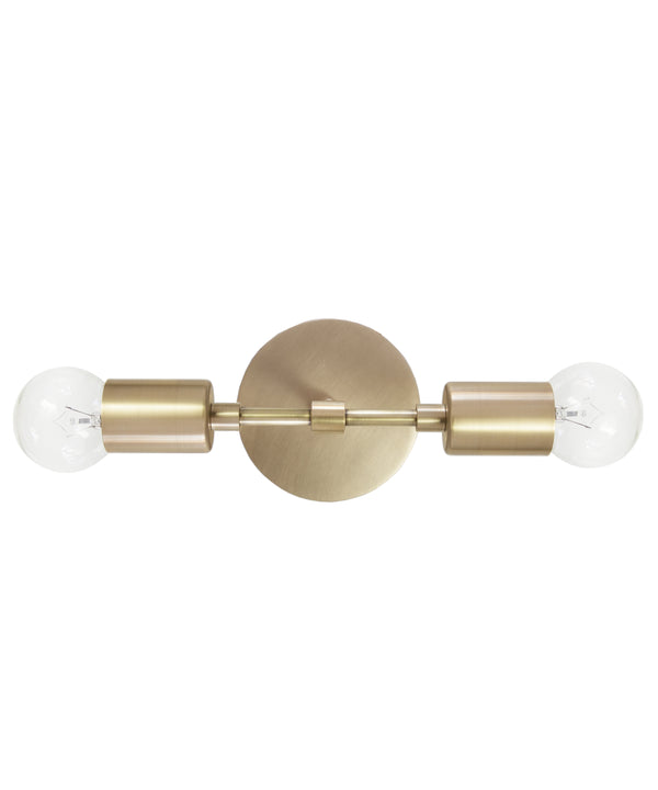 The Mercer Double Wall Sconce, Antique Brass