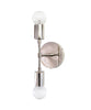 The Mercer Double Wall Sconce, Polished Nickel