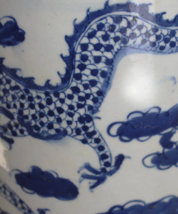 Blue & White Dragon Planter