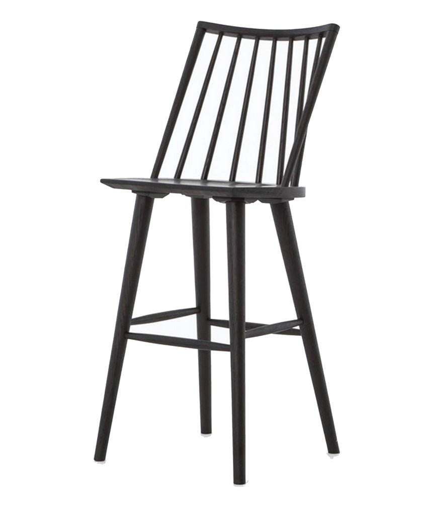 Elsie Windsor Bar Stool, Black Oak