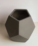 Matte Black Faceted Vase