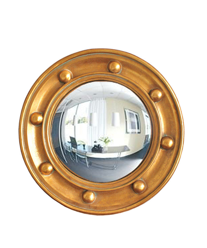 Federalist Style Gold Convex Mirror