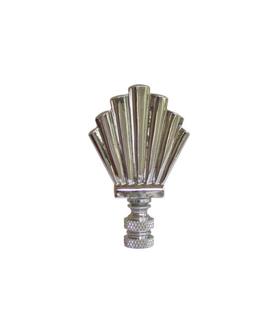 Silver Art Deco Lamp Finial