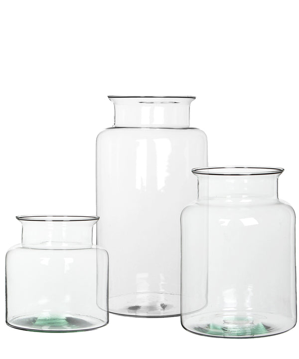 Clear Glass Hurricane Vases