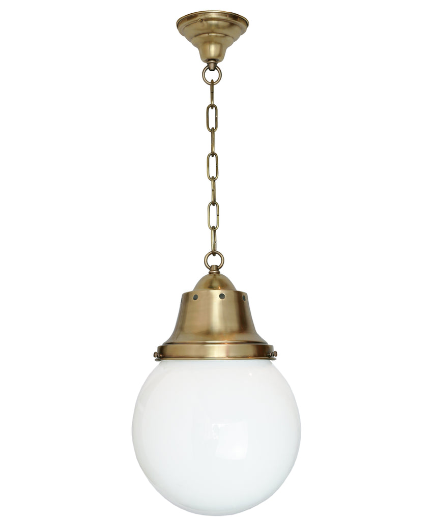 Picture of: Bennett Pendant With Globe Milk Glass Shade Hand Rubbed Antique Brass High Street Market