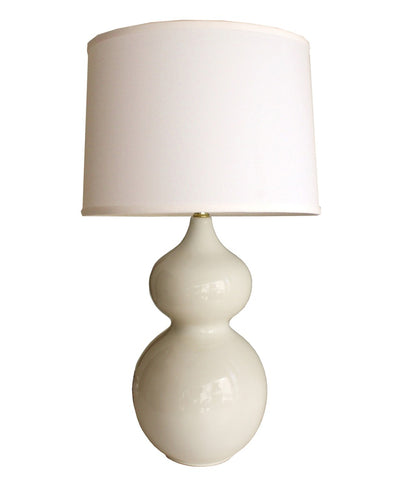 Gibson Gourd Table Lamp, White