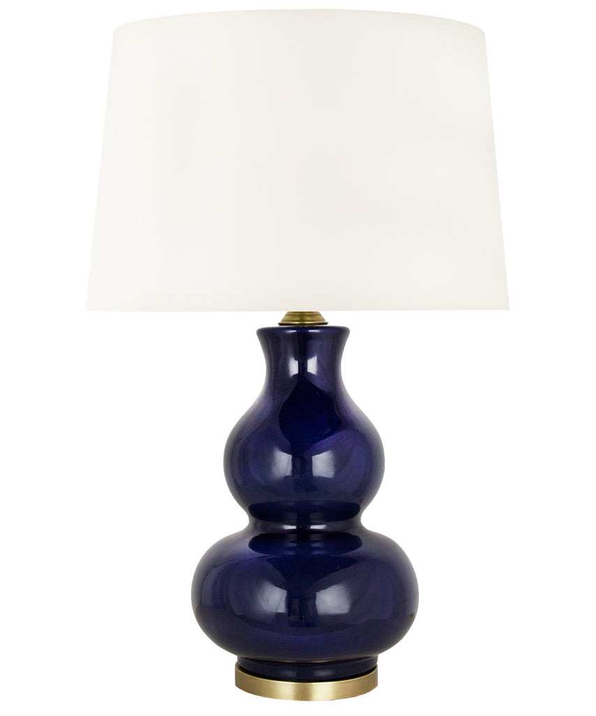 Addison Gourd Table Lamp, Navy
