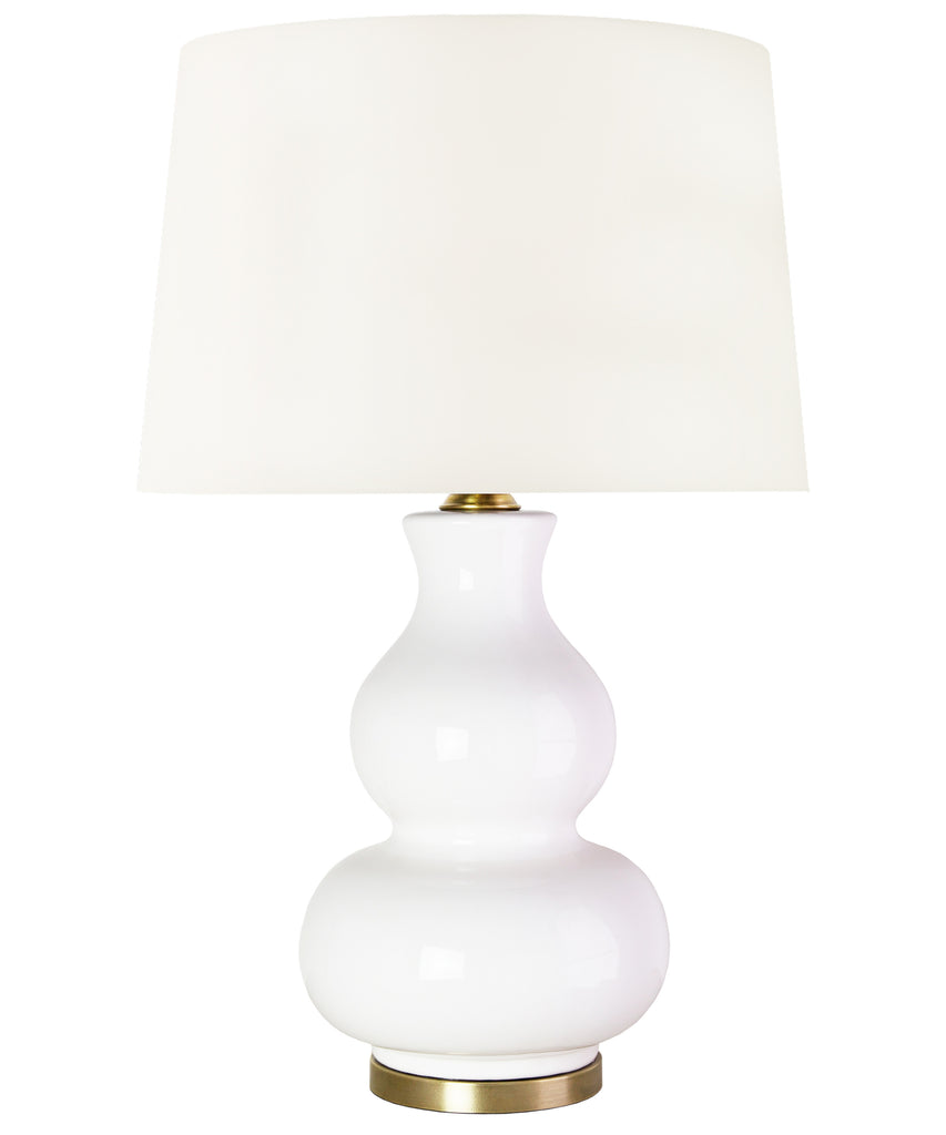 Addison Gourd Table Lamp, White