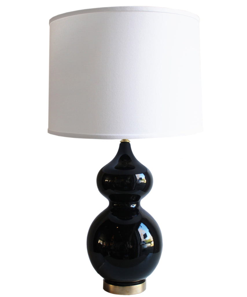 Gibson Gourd Table Lamp, Black