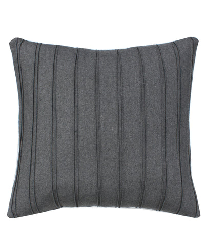 Grey Pleated Throw Pillow