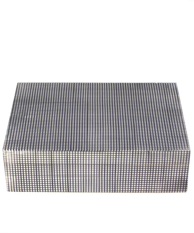 Grid Bone Clad Storage Box