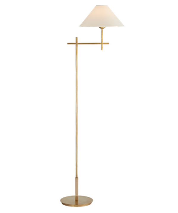 Hackney Floor Lamp, Antique Brass