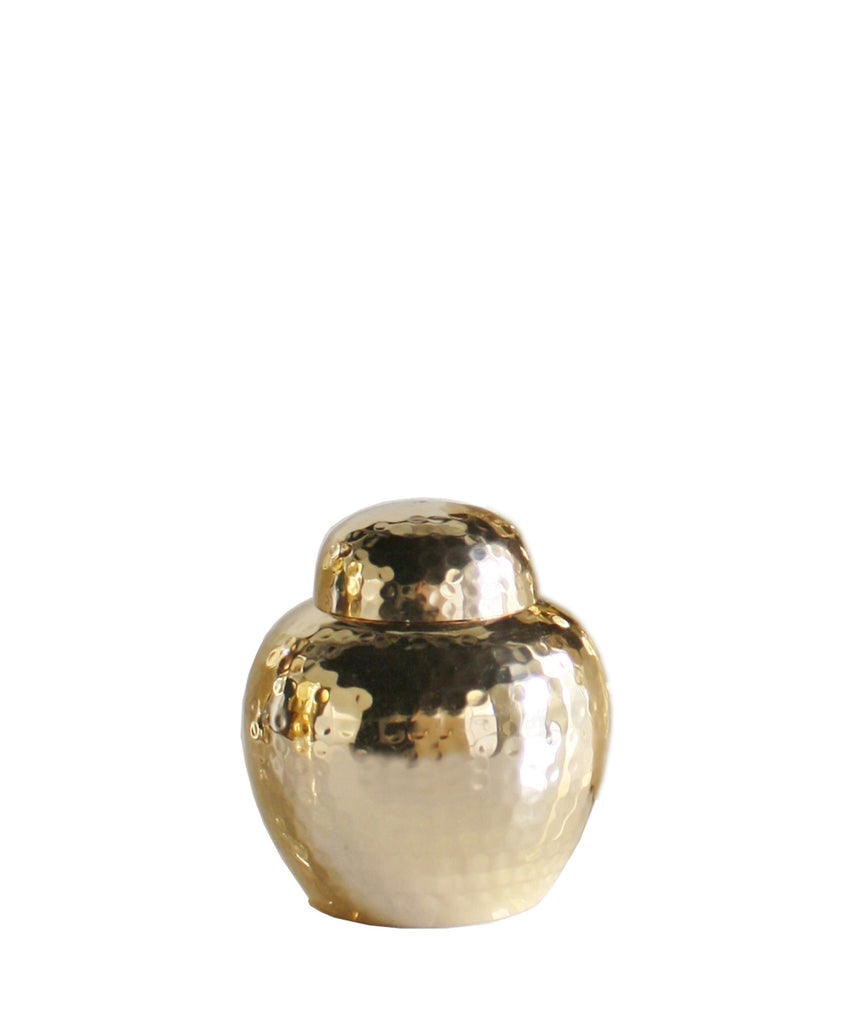 Hammered Brass Ginger Jar