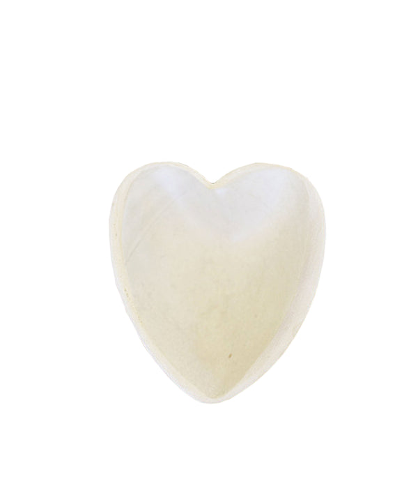 Heart Dish, Off-White