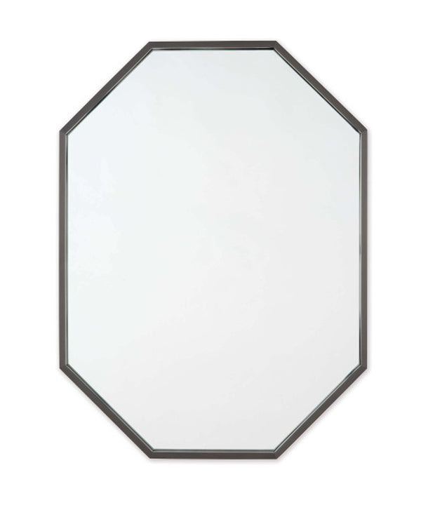 Long Hex Mirror, Bronze