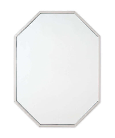 Long Hex Mirror, Polished Nickel