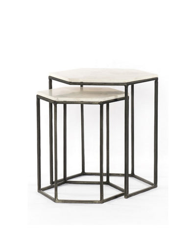 Hex Side Nesting Tables