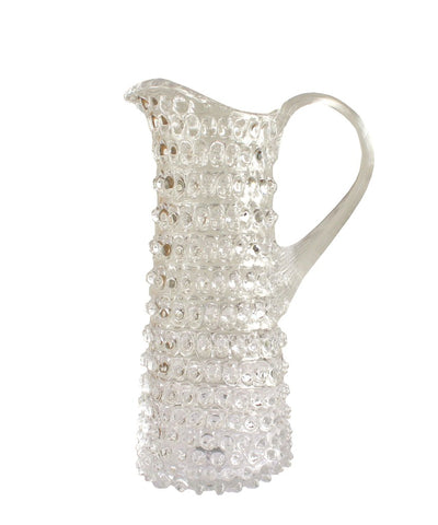 Clear Glass Hobnail Martini Pitcher