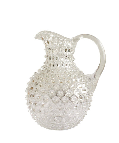 Clear Glass Hobnail Pitcher