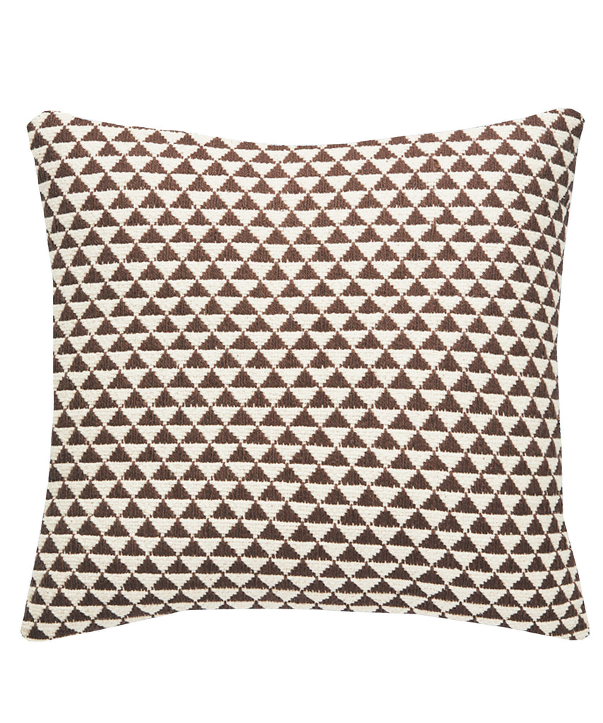 Geo Kilim Throw Pillow, Tabacco and Natural
