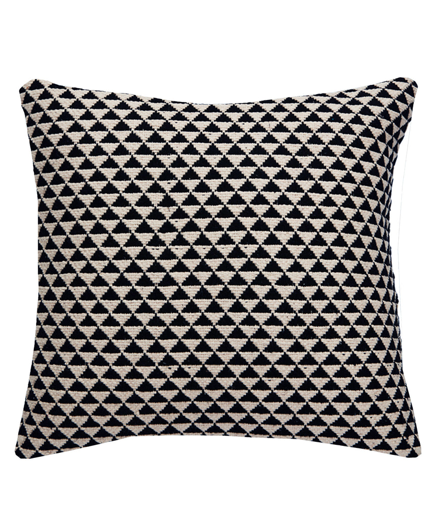 Natural Throw Pillow Inserts : Geo Kilim Throw Pillow, Black and Natural ? High Street Market