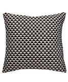 Geo Kilim Throw Pillow, Black and Natural