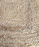 Natural Braided Jute Pouf