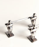 Pair of Vintage Silver Knife Rests