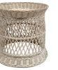 Laguna White Wash Rattan Side Table
