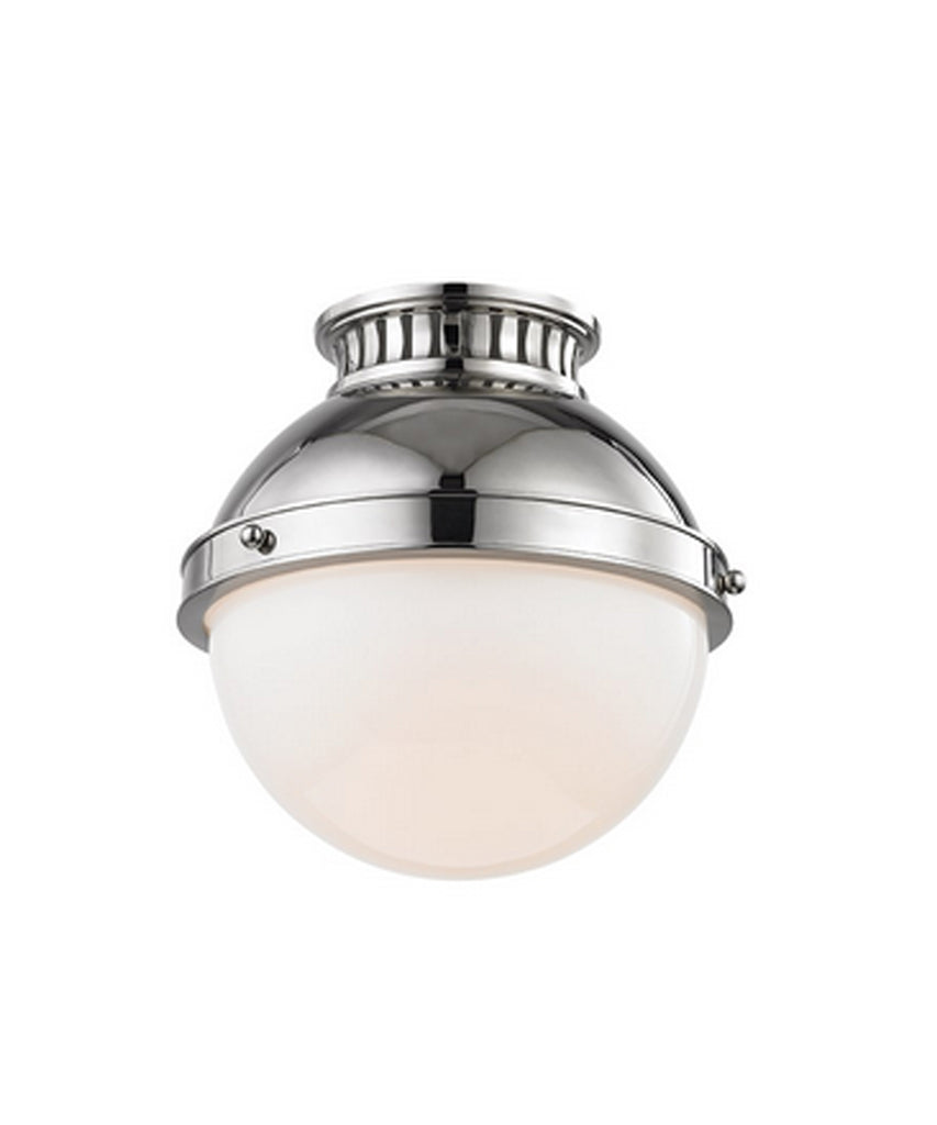 Lantham Flushmount, Polished Nickel