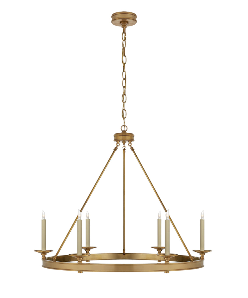 Launceton Ring Chandelier, Antique Brass