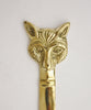 Brass Fox Letter Opener