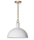 Morgan Dome Pendant, White