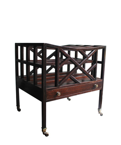 Large Vintage Chippendale Magazine Rack