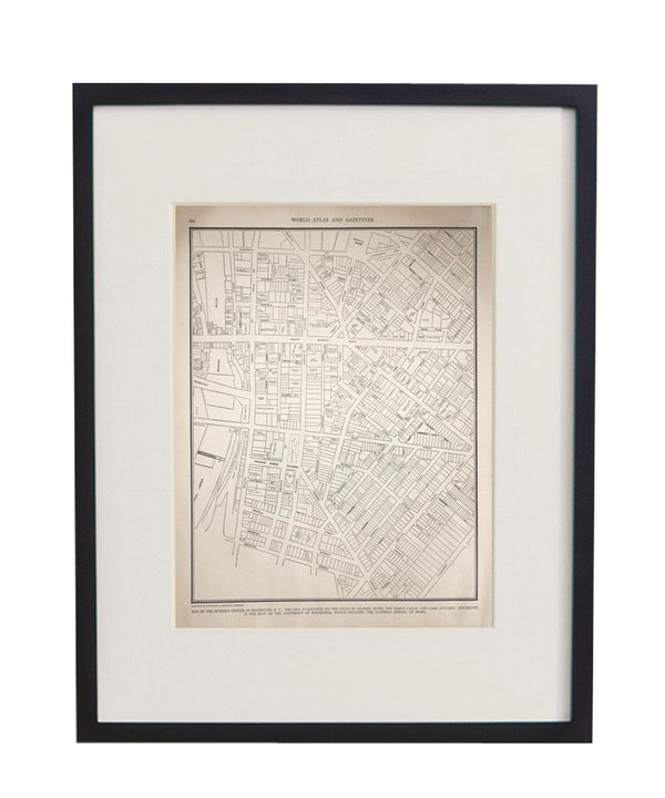 Vintage Framed City Map, Rochester, NY