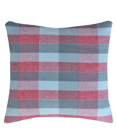 Faribault Plaid Wool Throw Pillow in Mapleton Plaid, Faribault Woolen Mill Co.