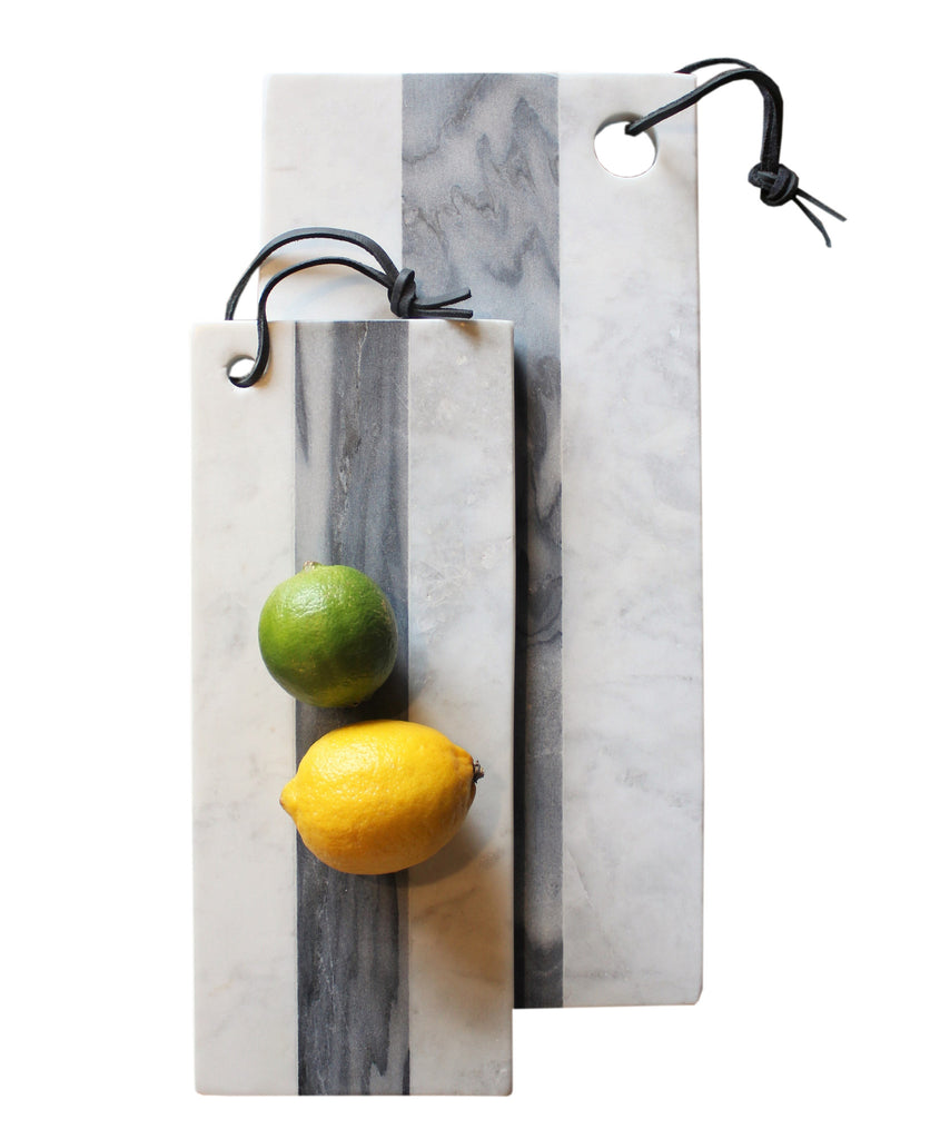 White and Grey Stripe Marble Cheese Board (2 sizes available)