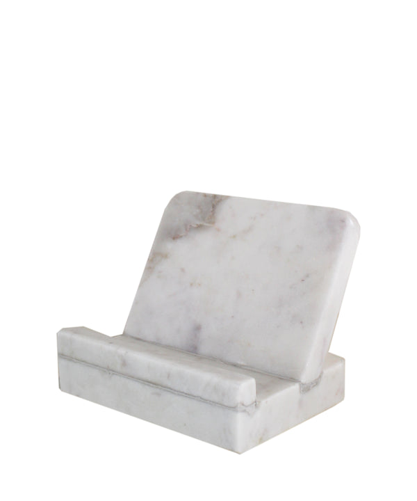 White Marble Cookbook Stand