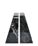 Pair of Black Marble Bookends