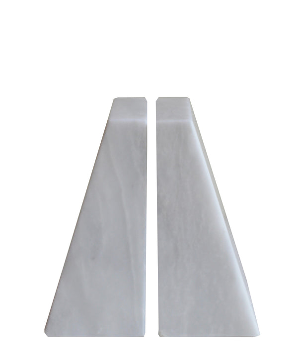 Pair of White Marble Bookends