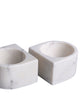 White Marble Salt & Pepper Pinch Pots, Set of 2