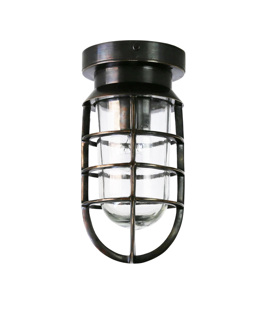 Mariner Indoor/Outdoor Flush Mount Ceiling Fixture, Bronze