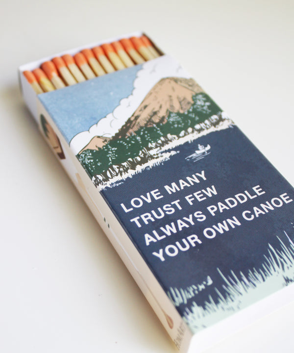 Paddle Your Own Canoe Matchbook