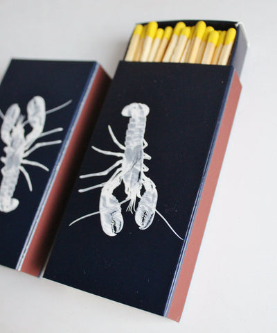Navy & White Lobster Matchbook