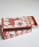 Fair Isle Red & White Matchbook